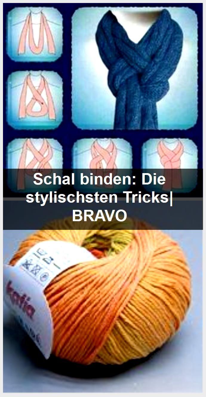 Schal Binden Die Stylischsten Tricks Bravo In 2020 Schal Binden Stylisch Binden
