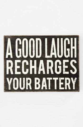 'A Good Laugh' Box Sign | Nordstrom