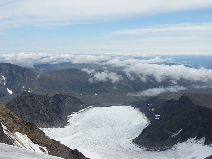 View from Kebnekaise 2104 moh
