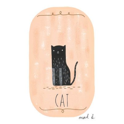 Black Cat   6x4 print  Available in pink peach door wintersmoke