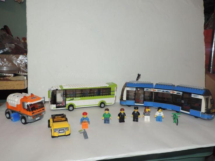 Lego 8404 City Bus Mini figure Public Transport INCOMPLETE 5 Vehicles