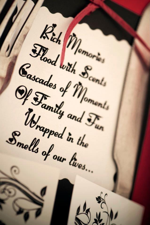 #wedding #knives #fork #holder #love #décor #event #message #poem #table #decor #red #black #roses www.jades.co.za/