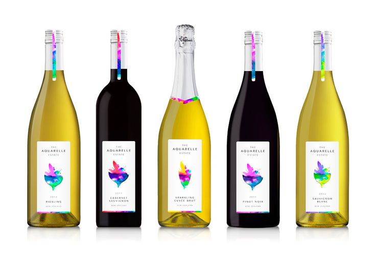 The Aquarelle Estate Brand creation and packaging design by: London Studio