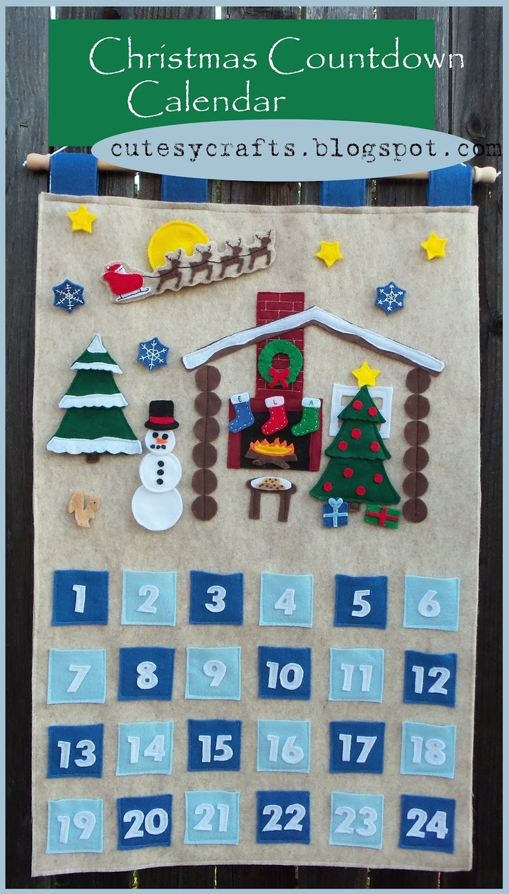 Cutesy Crafts: Christmas Countdown Calendar