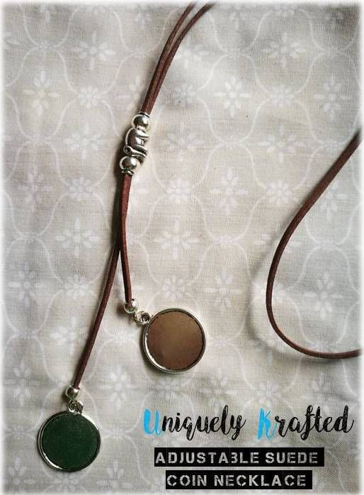 Adjustable Faux Suede Necklace (Plated Silver Pendants)    Available in different colours! And each piece is uniquely handmade, the beads that slide in the center vary, but you may request a particular bead to suite your personality!    Available and in various colours:    Facebook: https://www.facebook.com/UniquelyKraftedSA/  Instagram: https://www.instagram.com/uniquelykrafted/  Email: uniquelykraftedsa@gmail.com