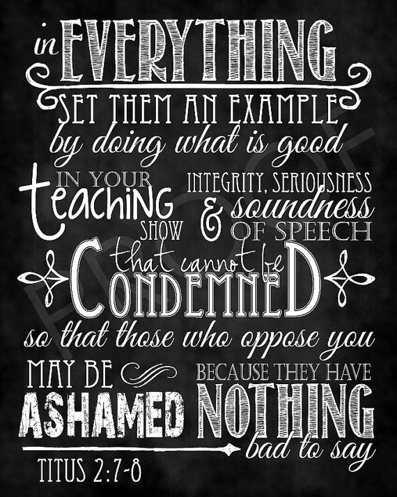 Scripture Art  Titus 278 Chalkboard Style by ToSuchAsTheseDesigns, $15.00: