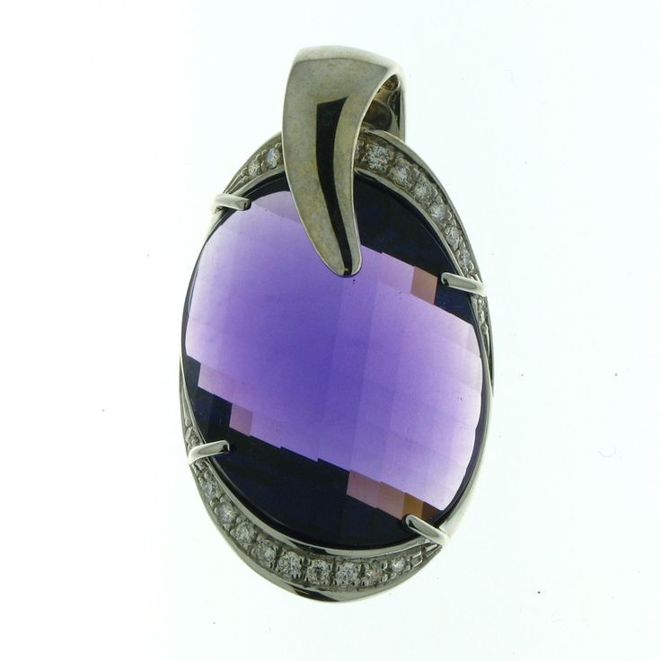 97 best elliott chandler design images on pinterest white gold 18k white gold diamond 39 carat weight total fancy faceted amethyst pendant mozeypictures Image collections