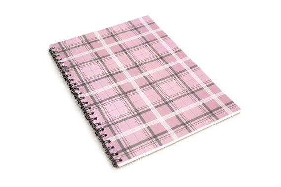 Pink Pastel Tartan A5 Notebook