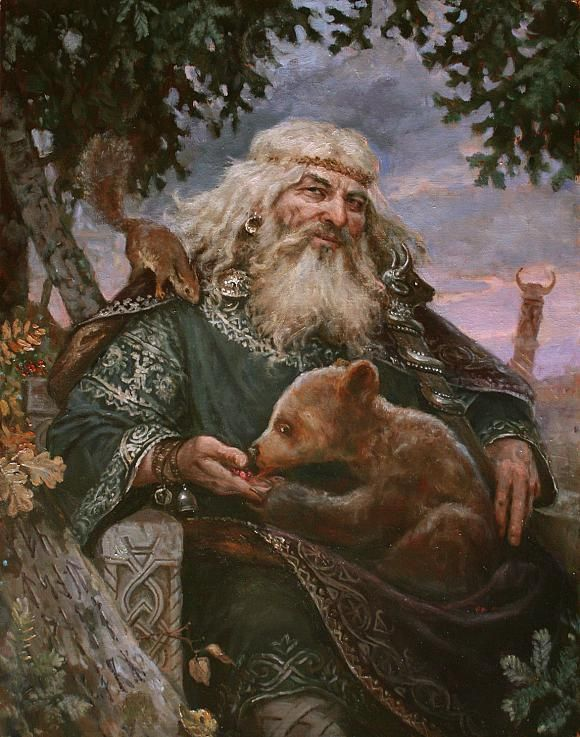 Velez (Volos, Blasius - in Slavic mythology - the patron saint of livestock and wealth, the embodiment of gold, the trustee merchants, ranchers, hunters and cultivators. (Rod son, brother Horsa).