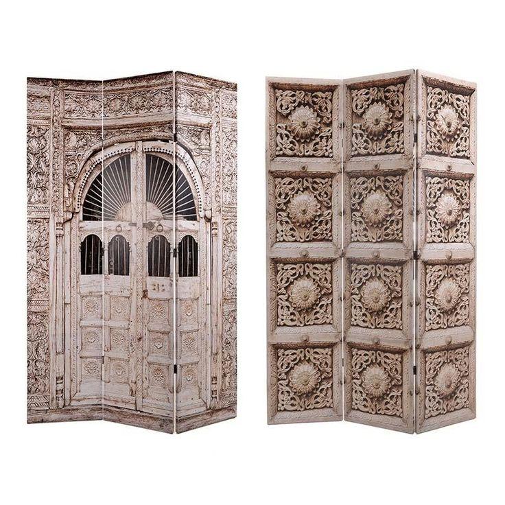 CANVAS PRINTED SCREEN 'DOOR' 120X2X180 (DOUBLE SIDE) - Screens - FURNITURE