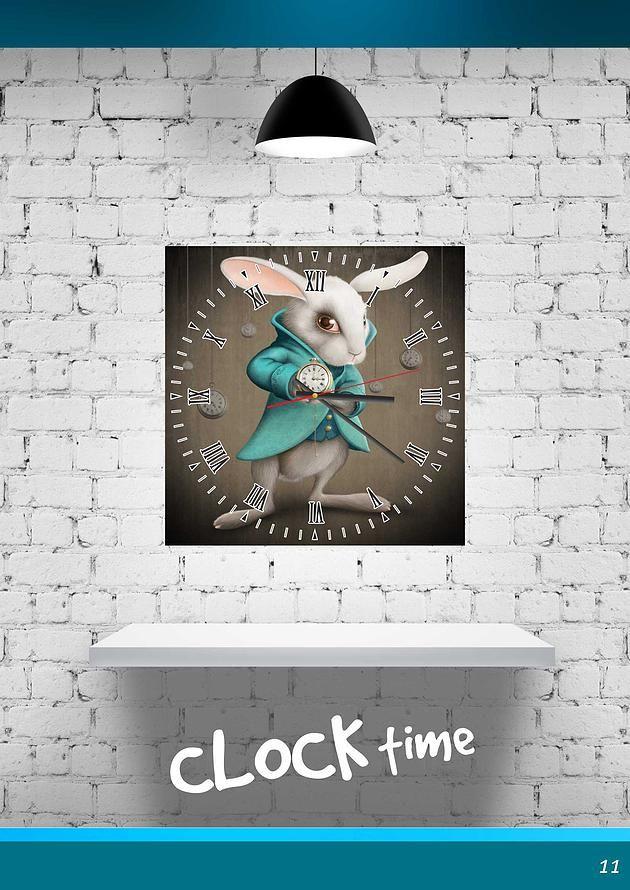 Draft-Glass - изготовление стекла и зеркала на заказ, фотопечать | Декоративные настенные часы с фотопринтом