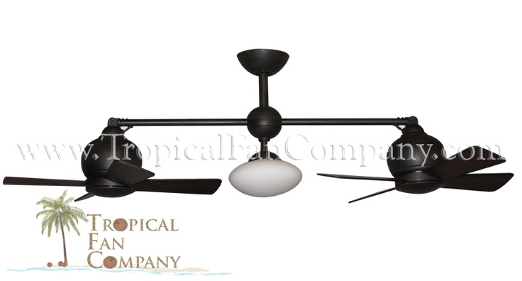 "Metropolitan Double Ceiling Fan Weathered Brick 2 x 24"" Sweep - The Tropical Fan Company"