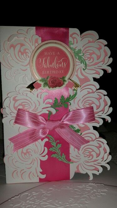 Anna Griffin Garden Cartridge My Daughter Made This Card For Her Big  Sister. By Virginia
