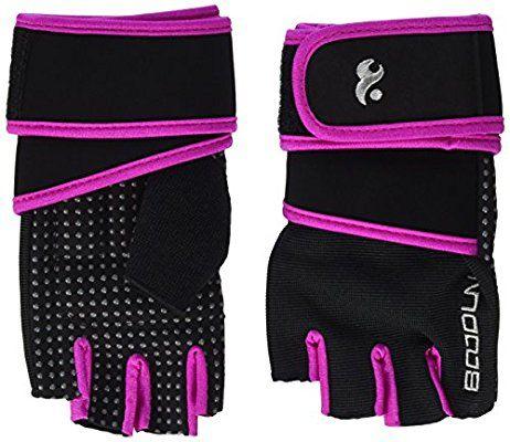 Showtime Damen Fitnesshandschuhe Handgelenkstütze Grips für Training - Schwarz/Lila - S #fitness #sport #gesund #handschuhe #sport #damen #frauen #pink