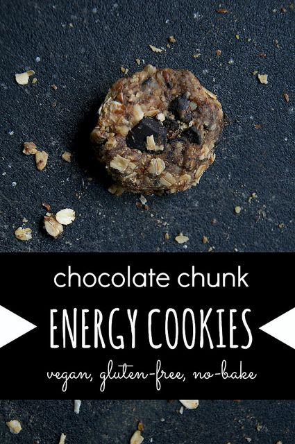 Chocolate chunk no bake energy cookies | recipes to try | Pinterest