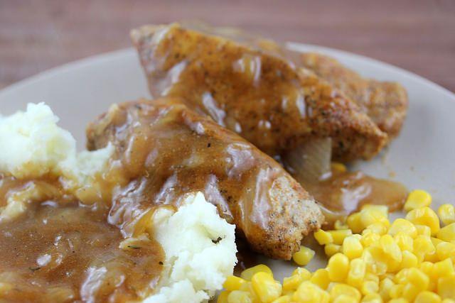Smothered Boneless Pork Ribs Recipe cullyskitchen.com/smothered-boneles-pork-ribs-recipe/