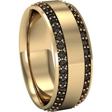 Black Diamond Yellow Gold