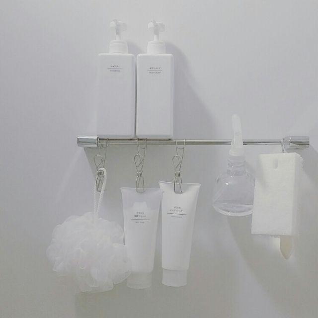 kanachiconさんの、バス/トイレ,無印良品,無印,お風呂,バスルーム,スッキリ,スッキリ化計画,バスルームの収納,のお部屋写真