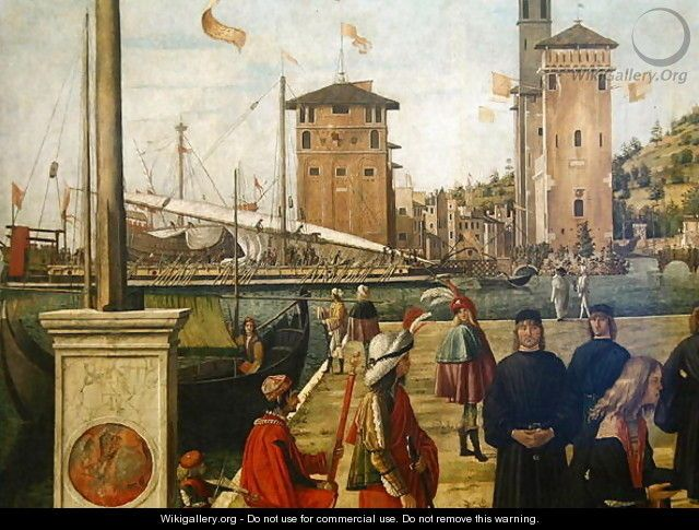 The Return of the Ambassadors, from the St. Ursula Cycle, 1490-94 (detail) - Vittore Carpaccio