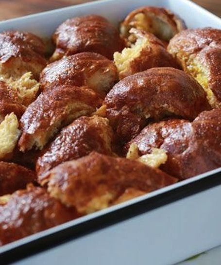 The easiest Challah French Toast casserole that can serve a crowd