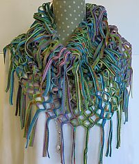 Knit Loop Scarf - grass colour www.dreamweavergifts.ca