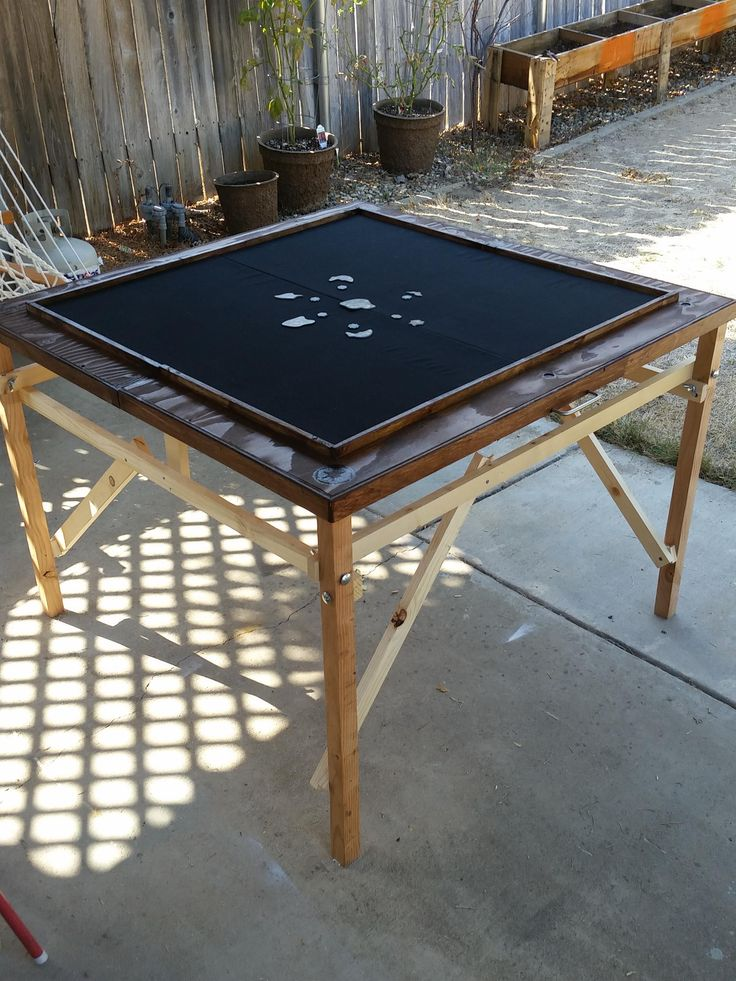 Made Myself A Folding Game Table From Mostly Scrap Wood Handmade