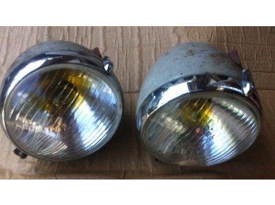 Paire de phares complets Equilux Marchal ABTP 490 occasion 2cv ( ni garantie ni retour voir descriptif)