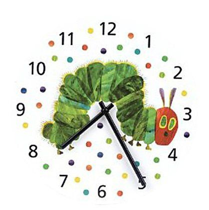 Eric Carle wall clock. We actually have this in our nursery and it works well with this decor.  #DiaperscomNursery
