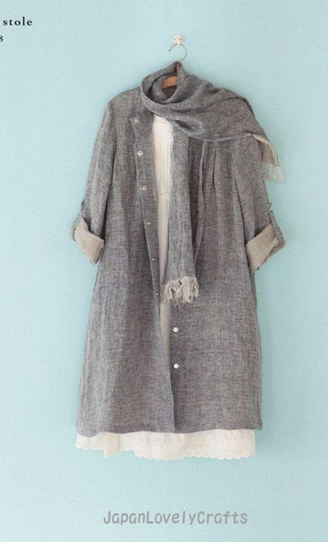 Simple Style Dress Pattern Machiko Kayaki by JapanLovelyCrafts