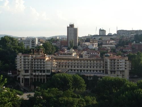 "Veliko Tarnovo Panorama with Hotel ""Hotel Veliko Tarnovo"""