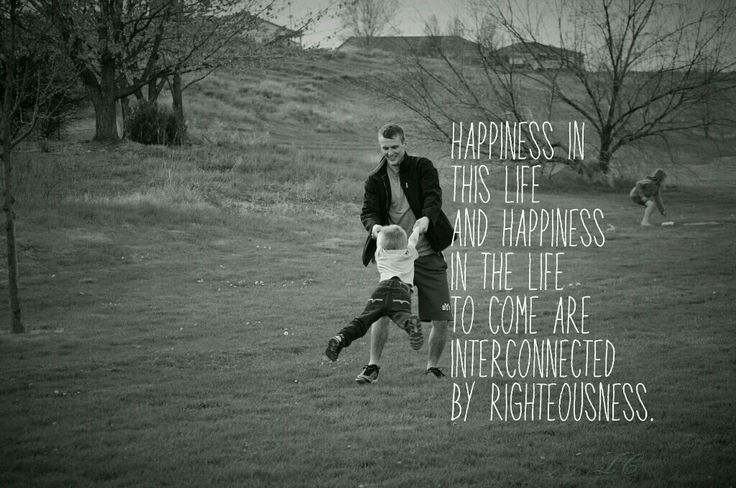 Happiness in this life and happiness in the life to come are interconnected by righteousness.