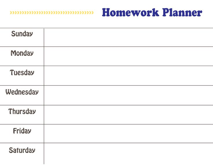 78 Best ideas about Homework Planner Printable on Pinterest | Todo ...