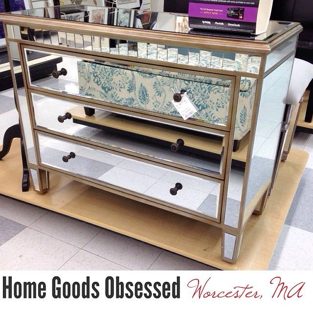 Pretty mirrored chest with cool details   279 99 A steal     homegoods. 394 best Home Goods Obsessed images on Pinterest   Slc  Nyc and