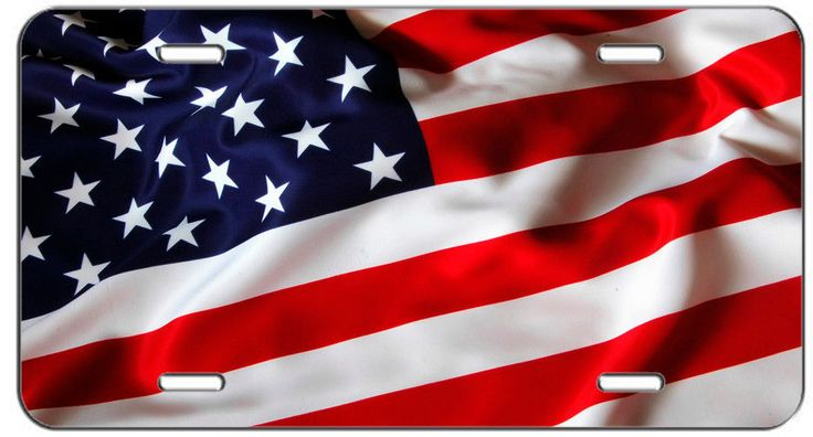 CUSTOM PATRIOTIC LICENSE PLATE AMERICAN FLAG AUTO TAG #putapiconit