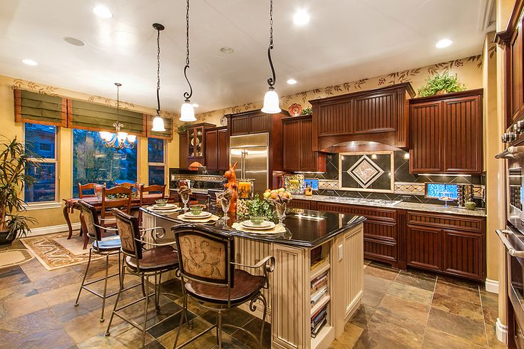 Kitchen interior design for everyone is different concept.For example, someone sees an option beautiful kitchen in a classic design with pretty massive wooden furniture fronts, with stained glass windows, and crystal chandeliers. And for someone does not need such a dizzying pomp and much nicer metallic luster modern #interiorsdesign #decor