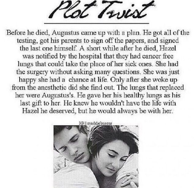 The Fault In Our Stars plot twist!