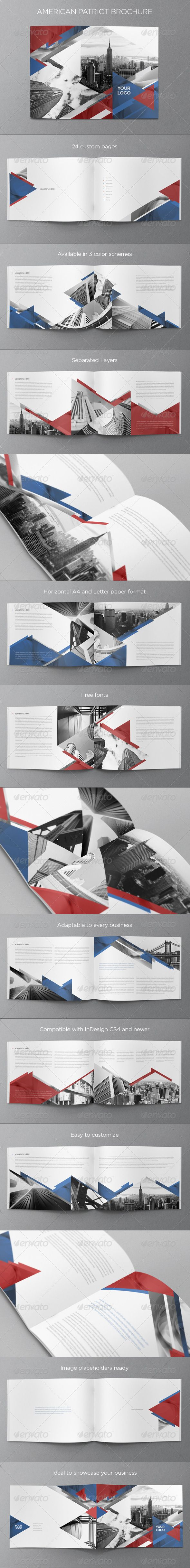 American Patriot Brochure — InDesign INDD #patriot #triangle • Available here → https://graphicriver.net/item/american-patriot-brochure/6339354?ref=pxcr