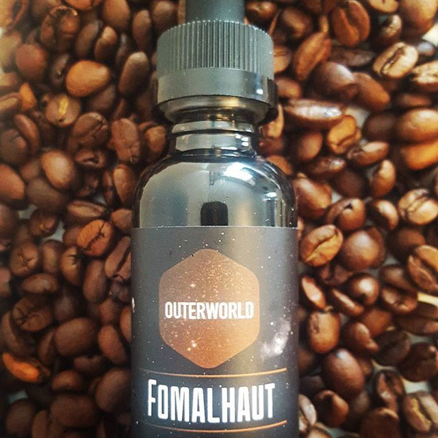 Get your coffee hit with Outerworld's Fomalhaut premium eliquid...A steaming carafe of rich roasted coffee, sweetened with a touch of caramel. Only $14.95 @vaporaecigs #coffeetime