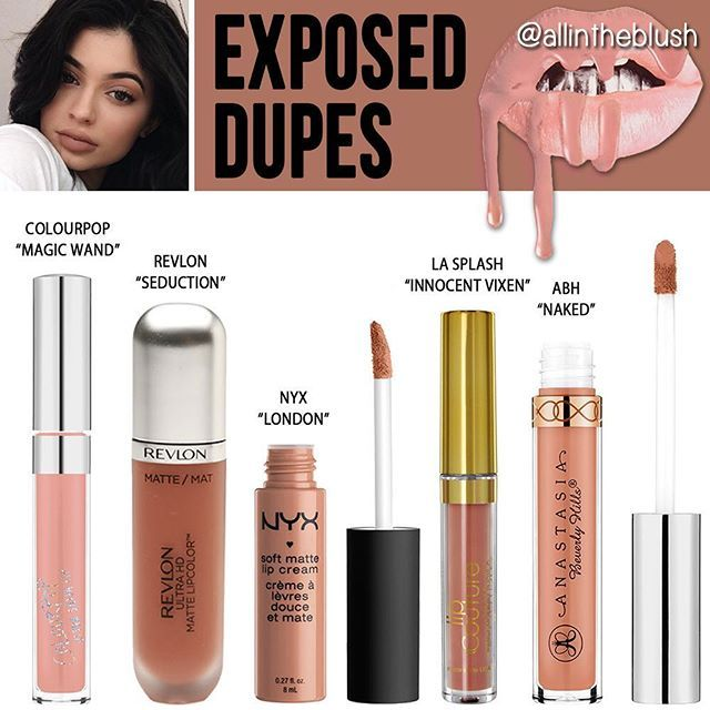 kylie Jenner cosmetics Exposed Lipkit Dupes More details  swatches will be on…