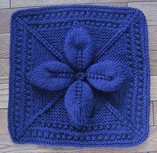 Knitted Leaf Pattern Blanket : Ravelry: Lucky 4-Leaf Afghan 12