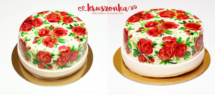 Ręcznie malowany tort