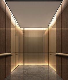 Elevator Cab Pulp Studio Glass Panels With Bronze Woven