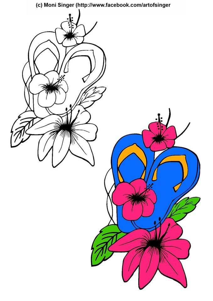 Silhouette plotter file free, Plotter Datei kostenlos, plotter freebie, flip flops, doodles, doodle