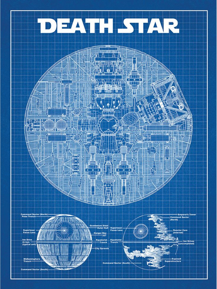 Star Wars Death Star Blue Print