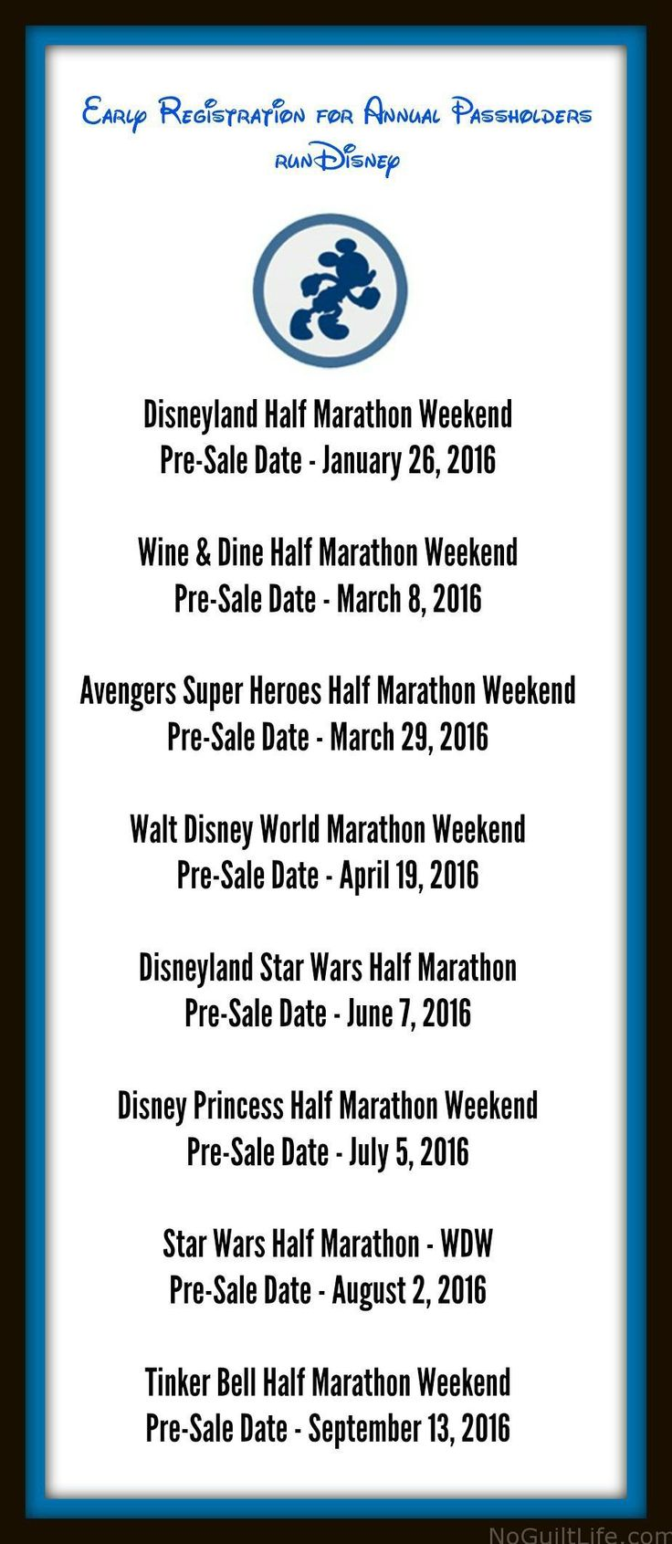 runDisney Annual Passholder Registration Dates 2016 - My No-Guilt Life | My No-Guilt Life