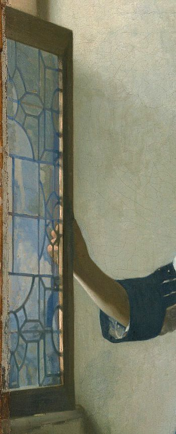 Johannes Vermeer - YOUNG WOMAN WITH A WATER PITCHER c. 1664-1665 (detail)