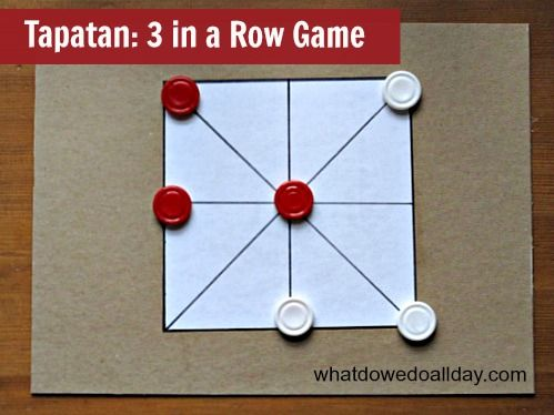 Tapatan Game 3 in a row game for kids