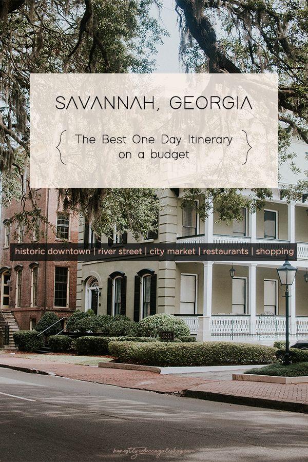 Plan A Day Trip To Savannah Georgia On A Budget Honestly Rebecca Savannah Chat Savannah Georgia River Street Savannah River Street