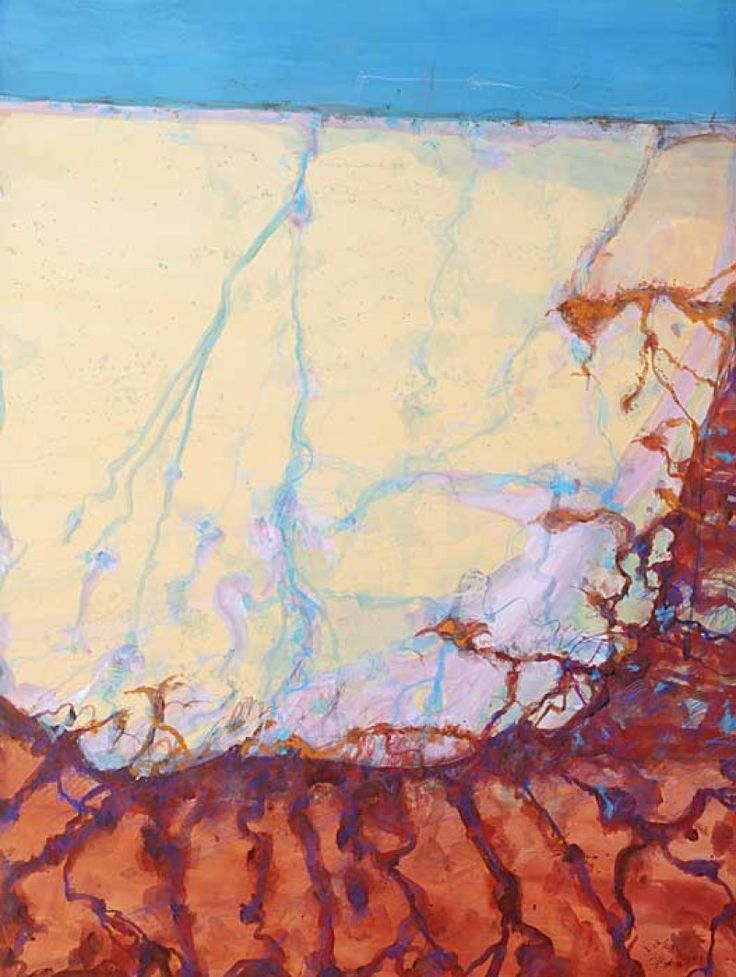 John Olsen, The Lake Begins to Fill , 161 x 121 cm, Mixed media on paper,