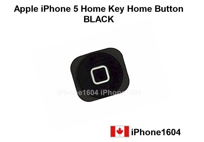 Apple iphone 5 home key home button black Price= $6.25